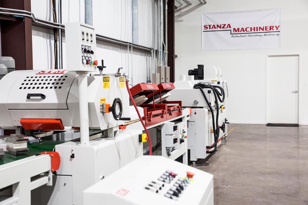 Stanza Machinery Industrial Roll Coat Line in the new Rubio Monocoat training facility in Austin, TX
