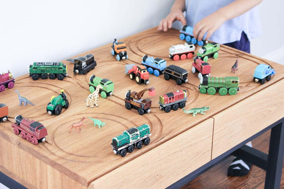3x3 custom diy train table